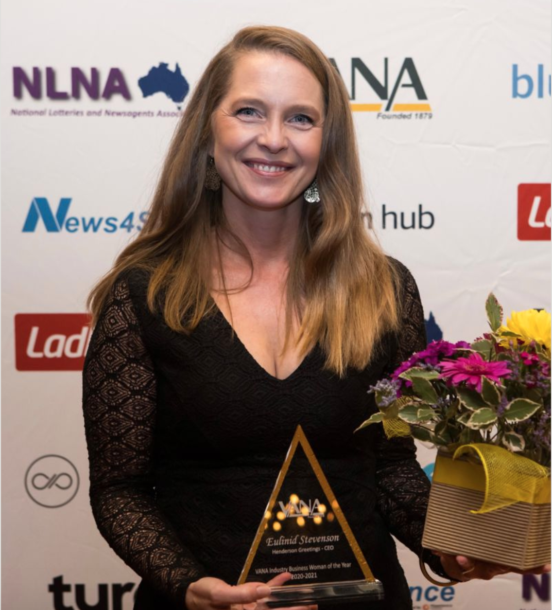 Above: Eulinid Stevenson with her VANA award trophy.