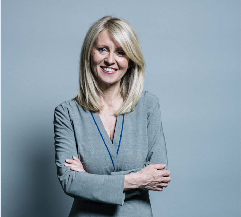 Above: Esther McVey, MP from Tatton.