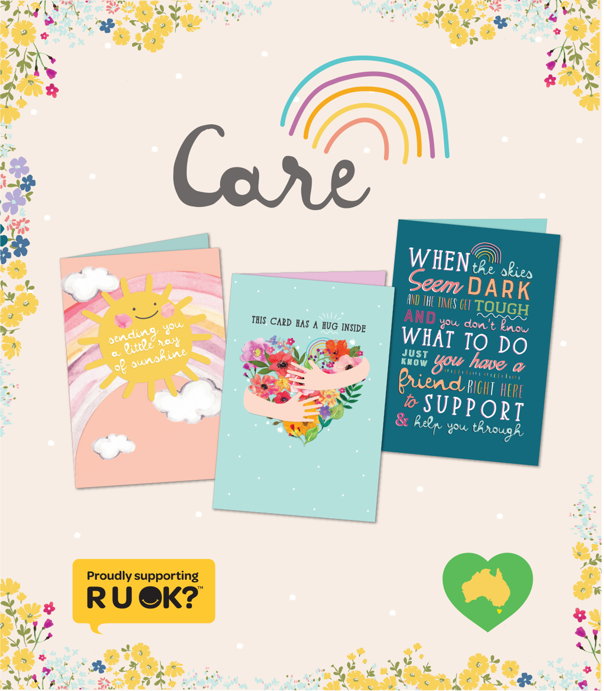 Above: The Henderson Greetings' Care Collection.