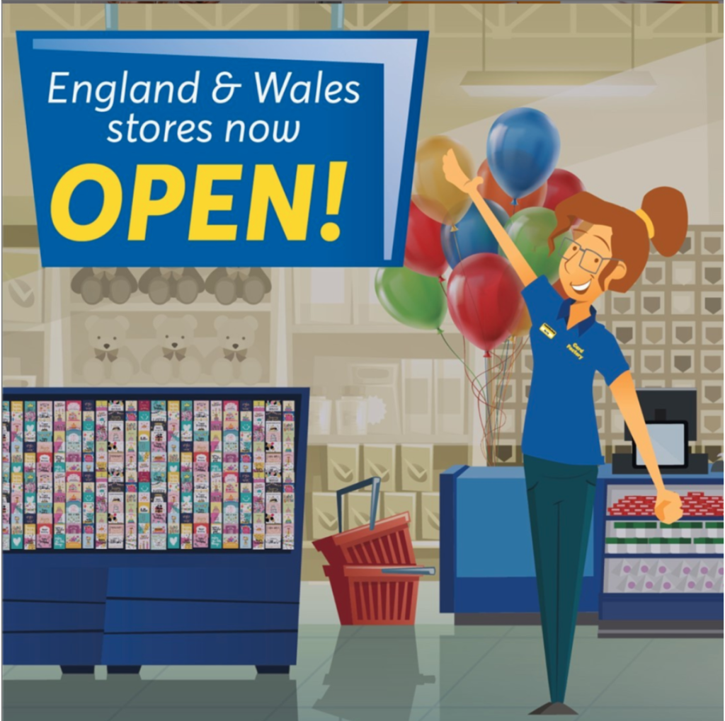Above: In the period immediately following the retail reopening in England and Wales, Card Factory was trading ahead of expectations.