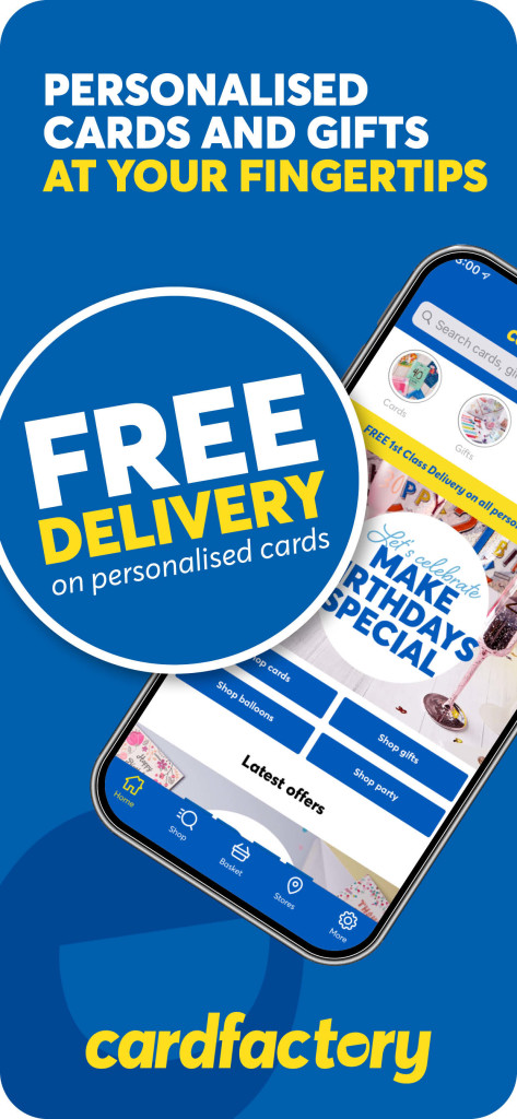Above: Card Factory's app has worked well for repeat orders.