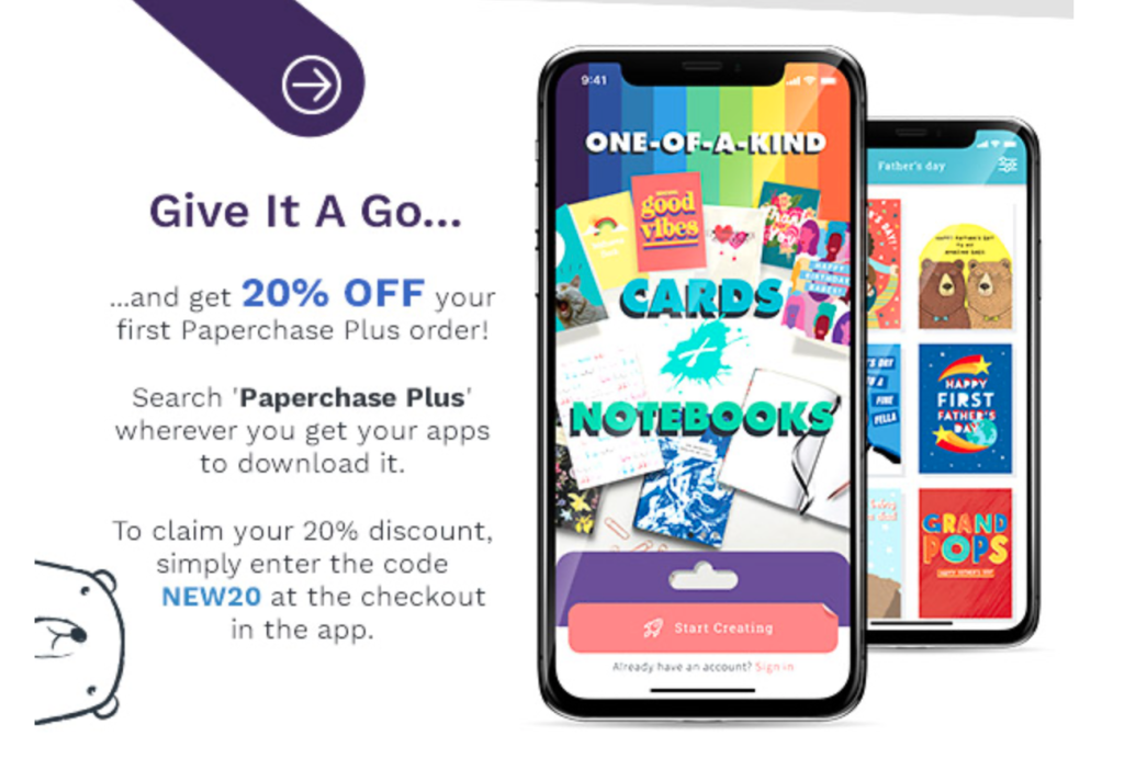 Above: The Paperchase Plus app is offering the opportunity for print on demand products.