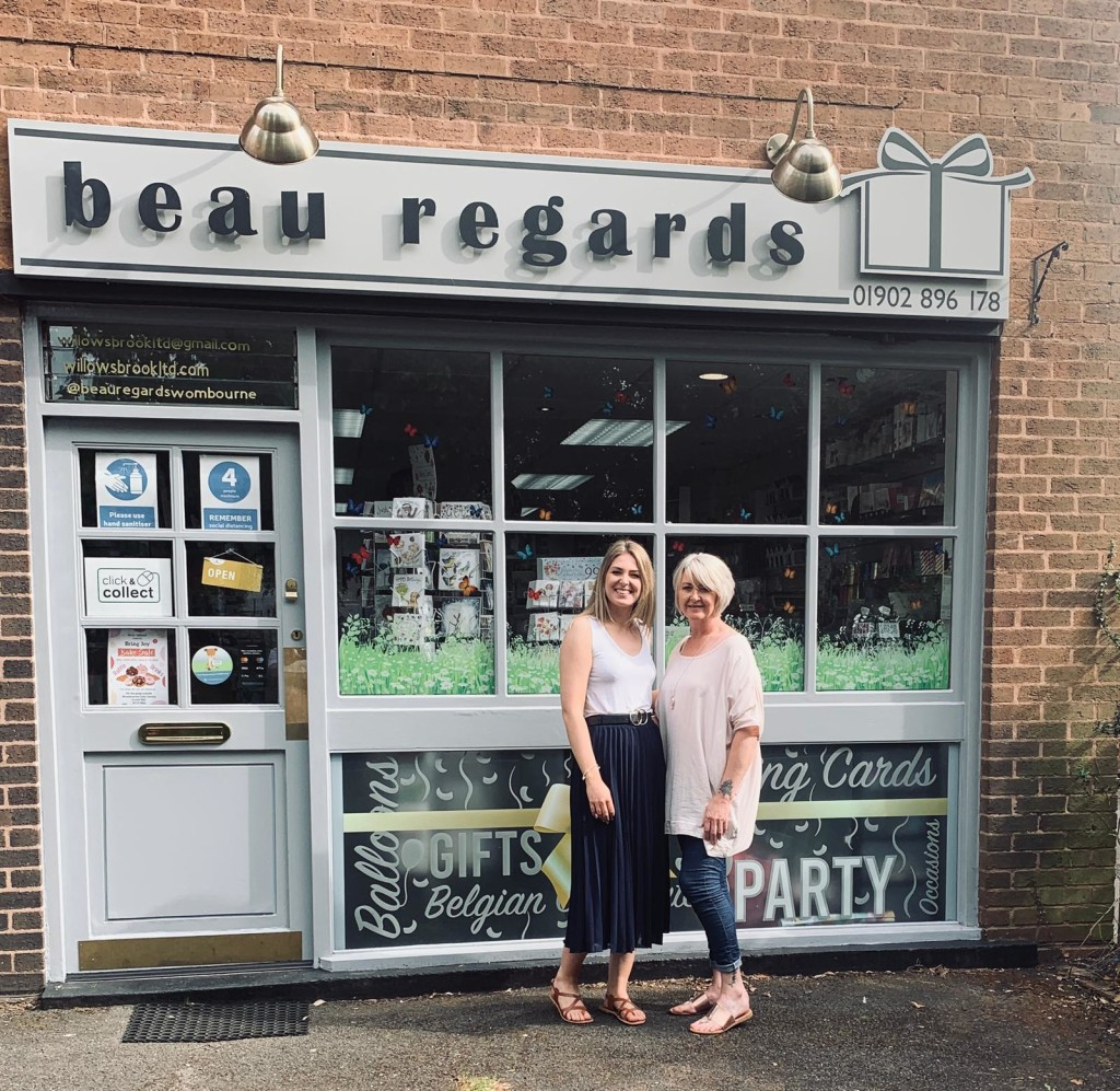 Above: Natalie Imms and her mum Angie Imms outside Beau Regards in Wombourne.