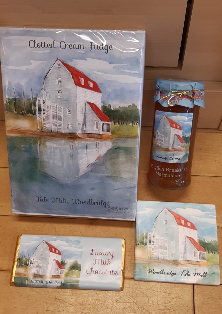 Above: Pete has developed a range of products featuring artwork by his mother-in-law.