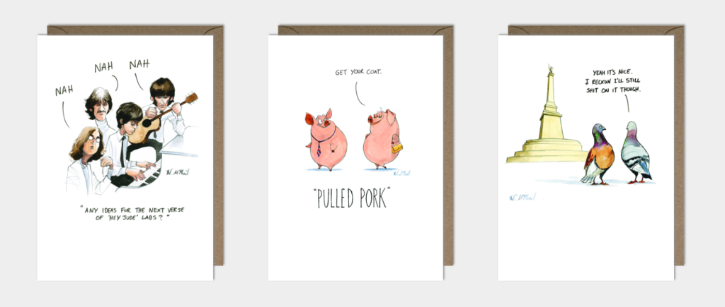 Above: A trio of designs from Paperlink's Colourful Mind range.