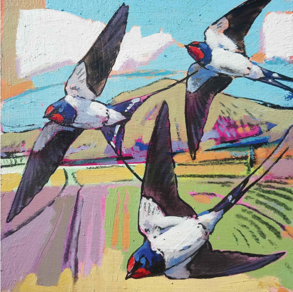 Above: Swallows by Daniel Cole from Dry Red Press.