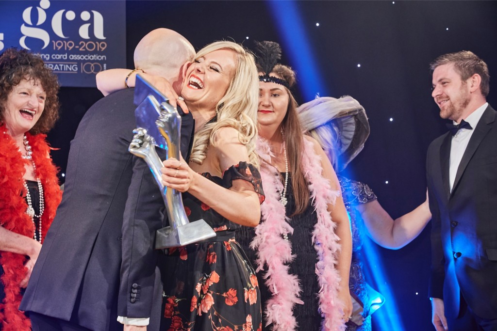 Above: A jubilant Louise Tiler at The Henries 2019. (The awards took place virtually in 2020).