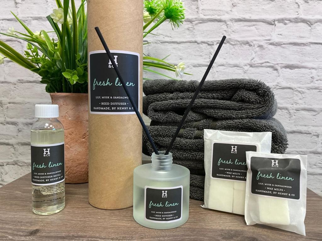 Above: Some of the new home fragranced products that are being launched from the Penmark stable.