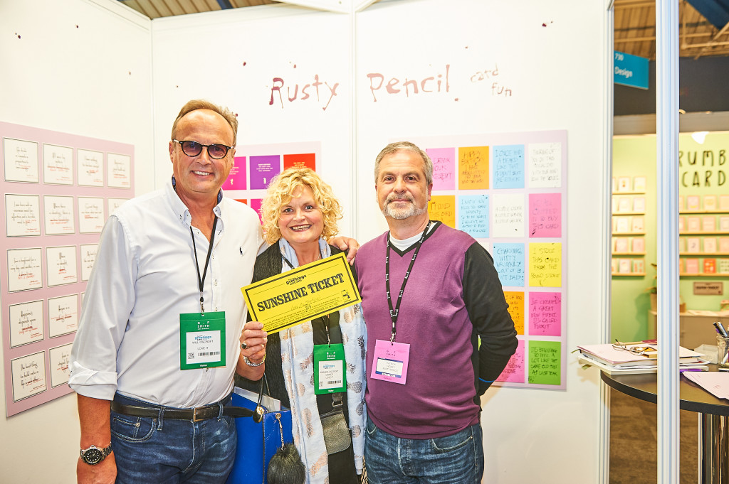 Above: Amanda and Will Oscroft (left) spending their Sunshine Ticket with Rusty Pencil at the 2019 show.