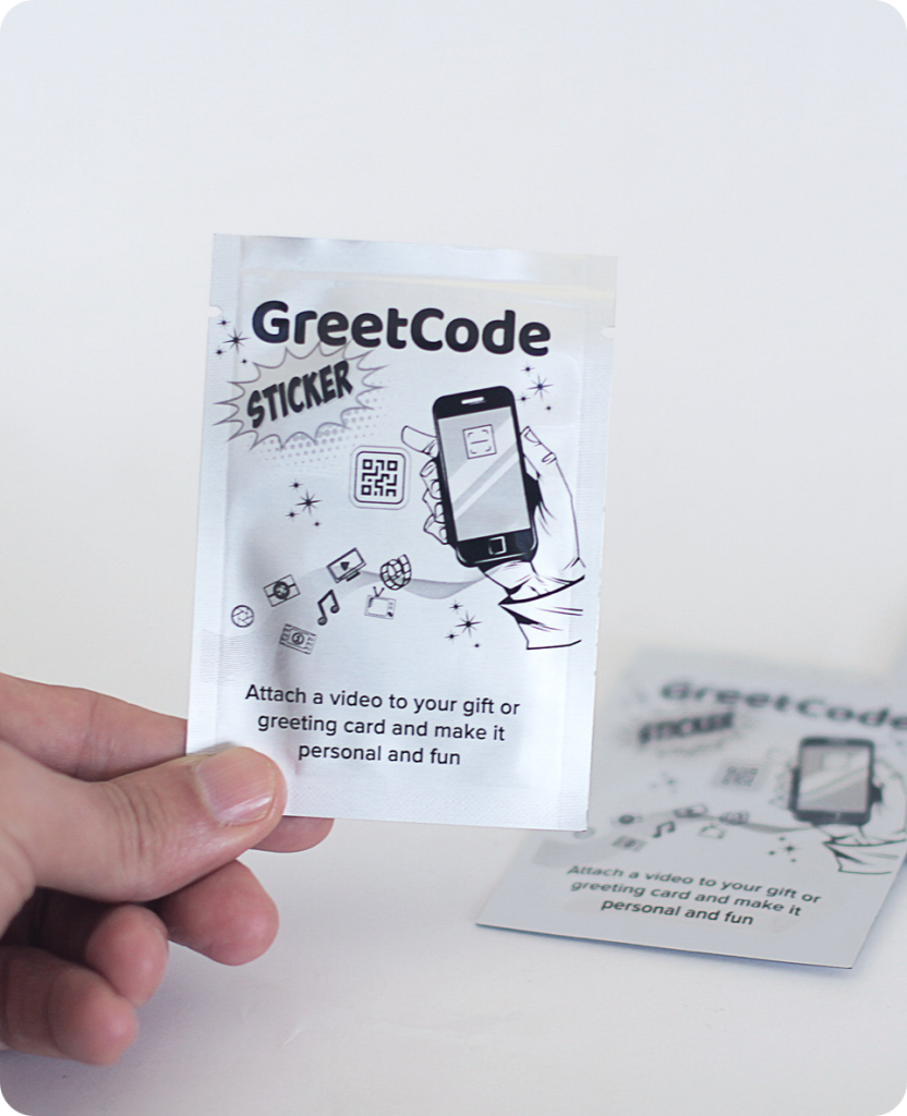 Above: GreetCodes enable a greeting card to really be brought to life, as it provides the wherewithal to attach a video.