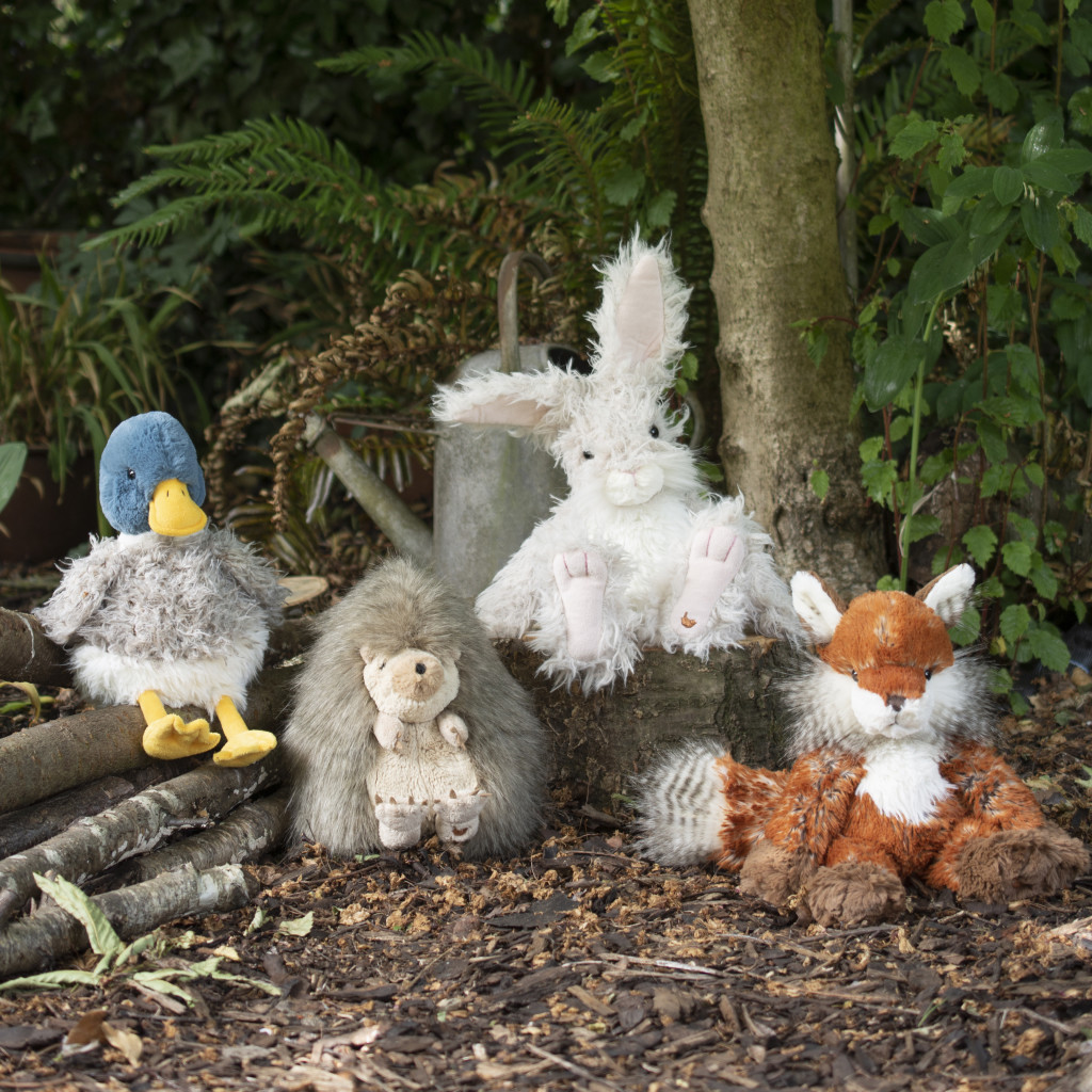 Above: The first four Wrendale plush characters.