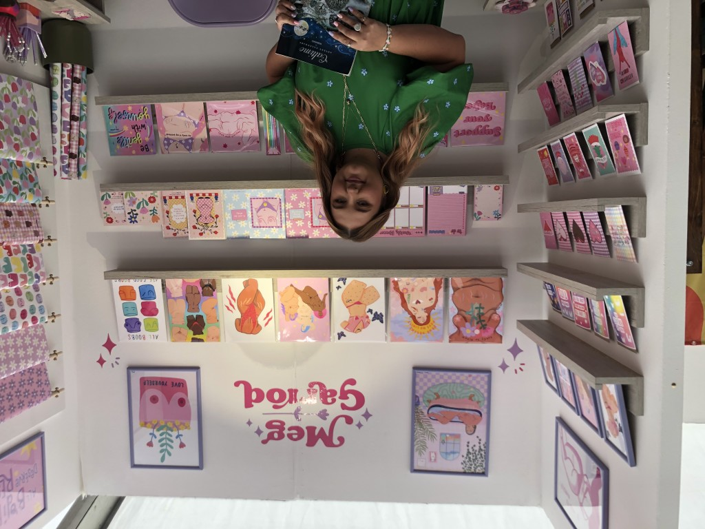 Above: Meg Garrod was delighted by her first every trade show debut.