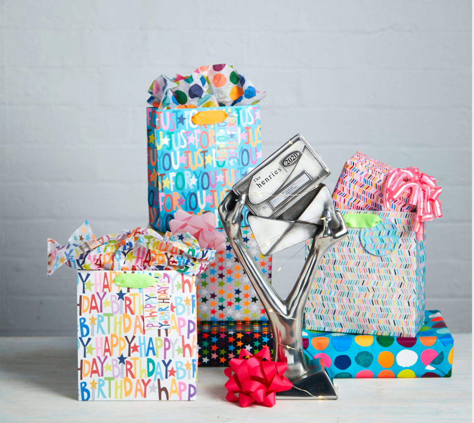 Above: Paper Salad and Glick are celebrating a decade of their winning licensing partnership, which has seen them win five Henries for their giftwrap collections.
