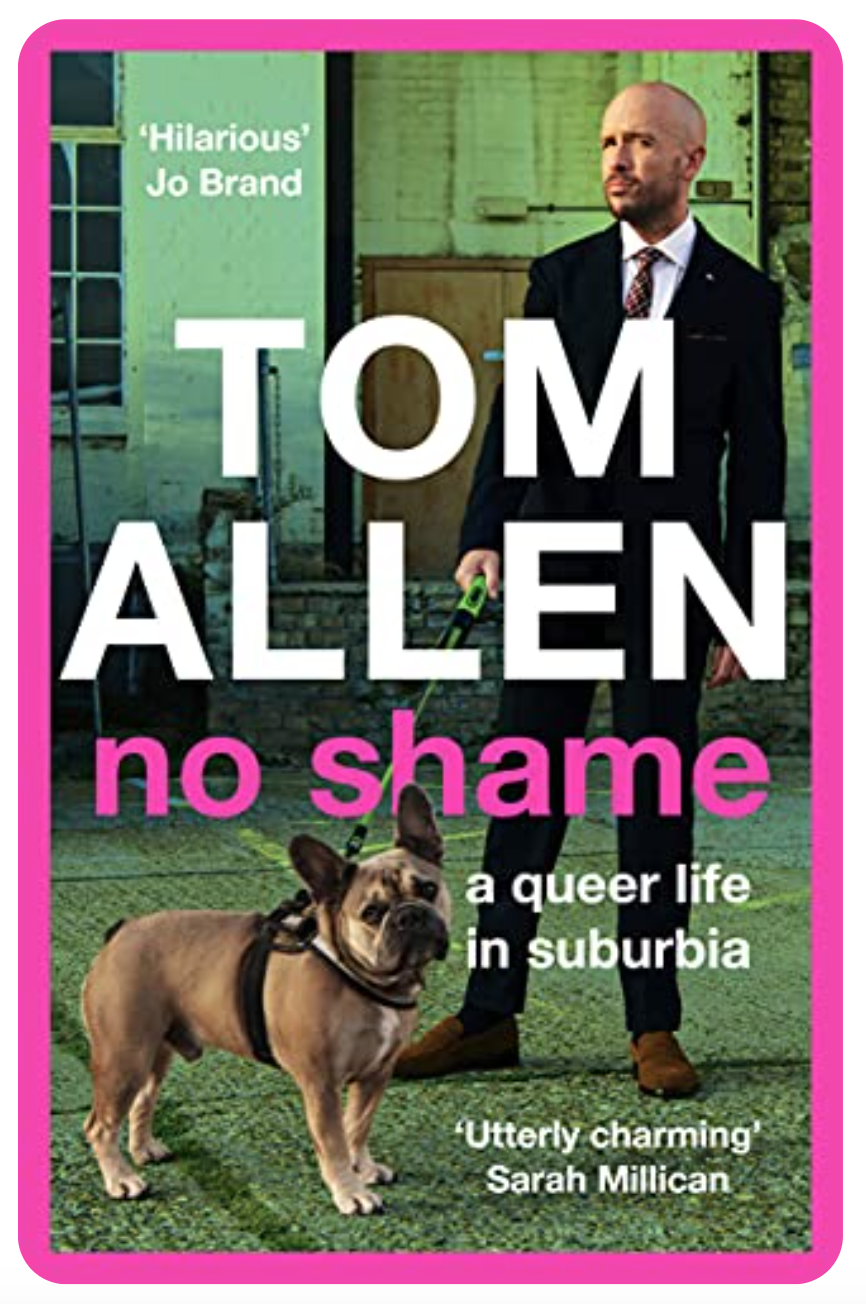 Above: Tom Allen's No Shame book is in the best sellers list.