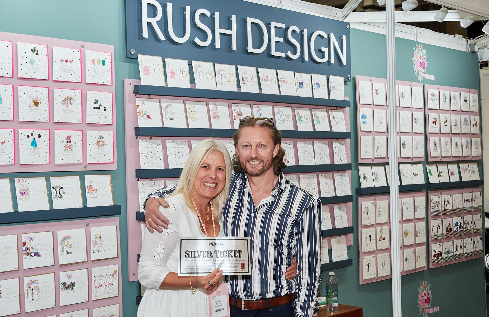 Above: Stephen McHale with Rush Design's Lorraine Bradley.
