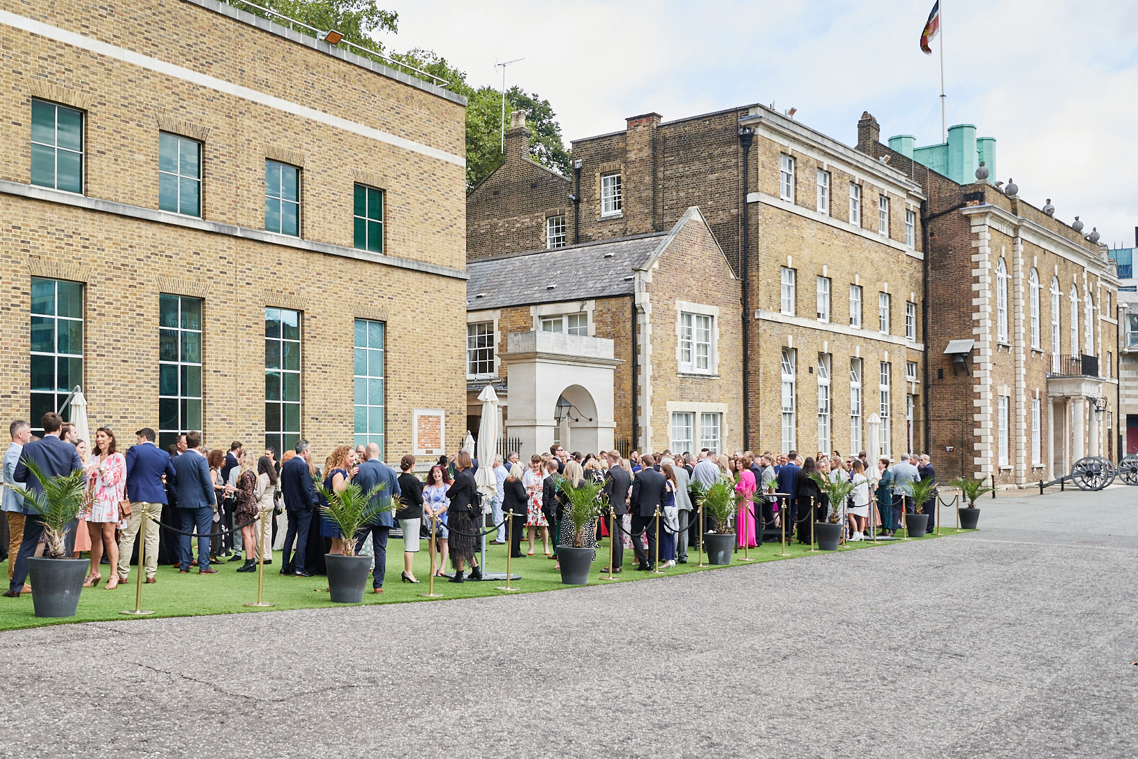 Above: Some of The Greats attendees enjoying the al fresco drinks reception.