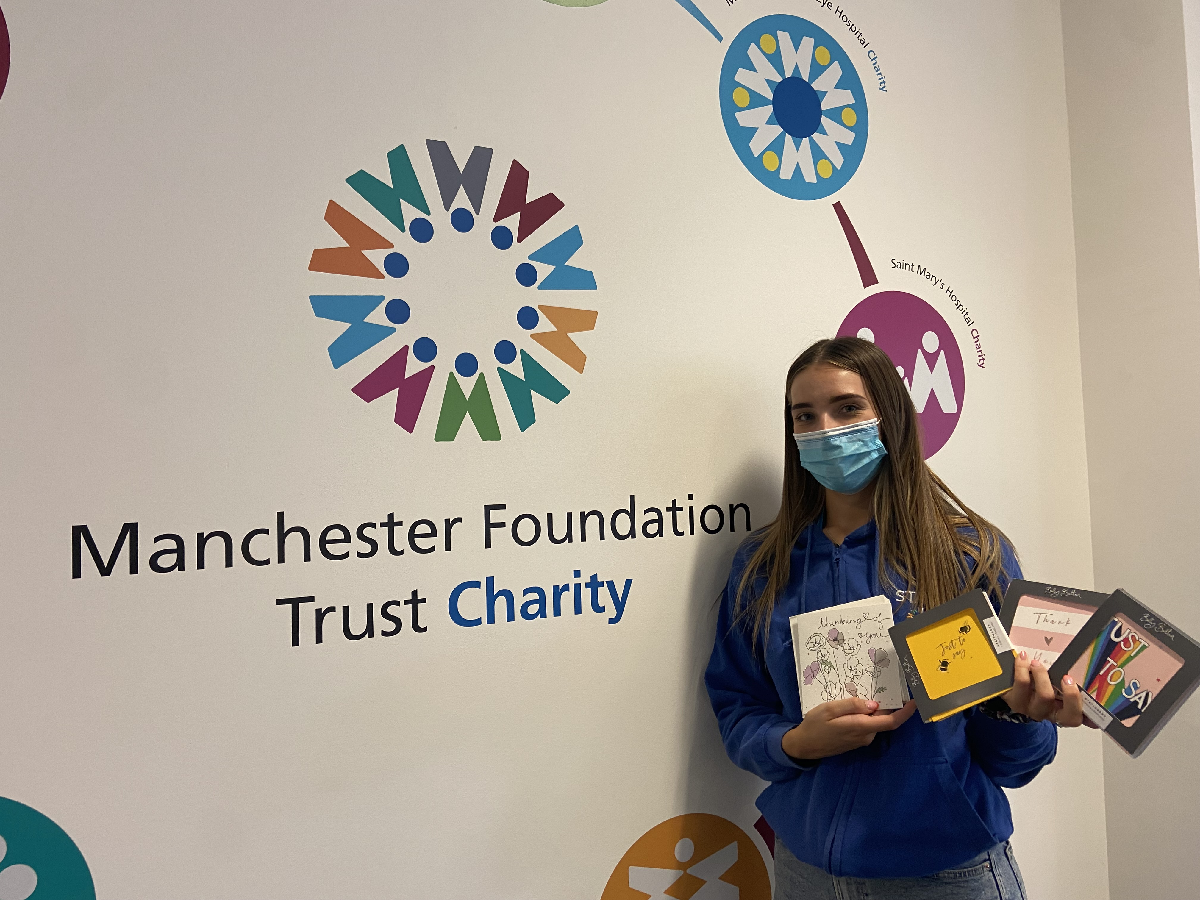 Above: Some of the donated Belly Button cards for Manchester Trust Foundation.
