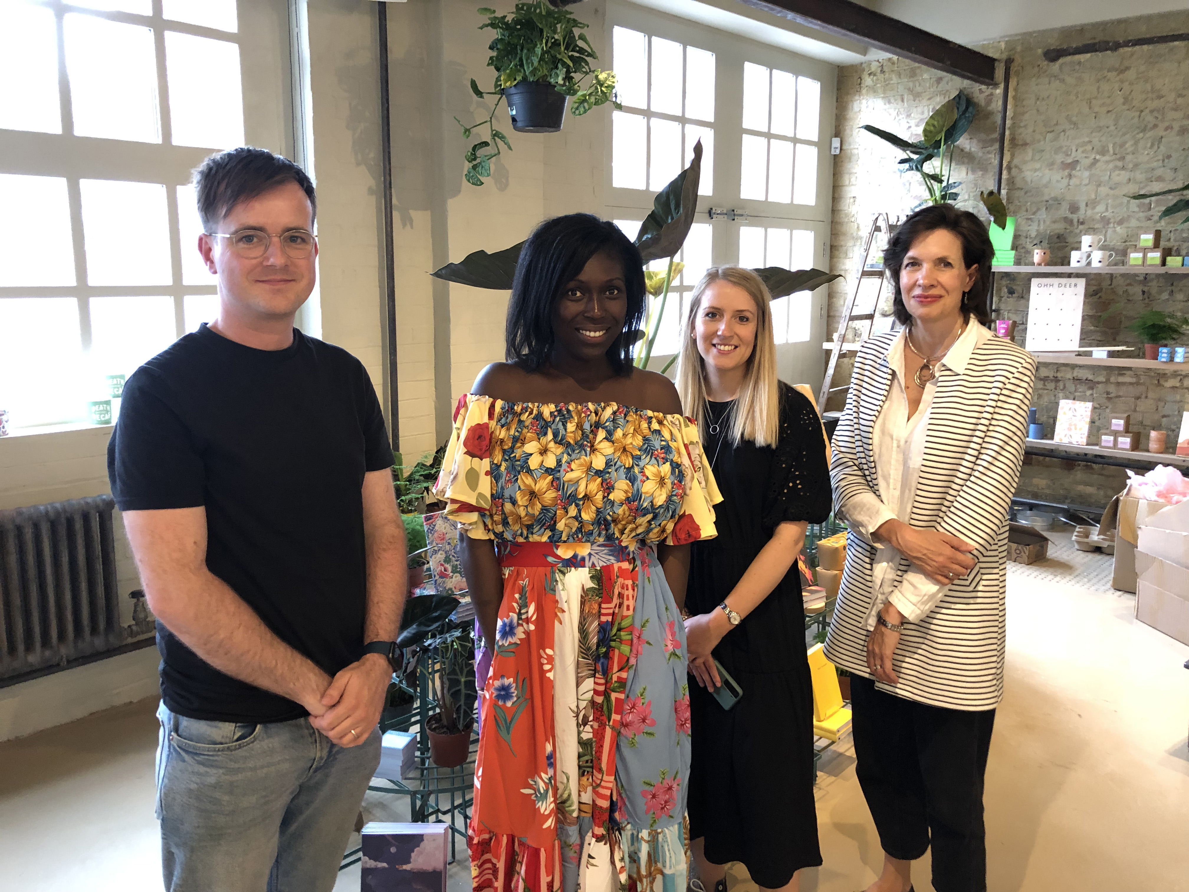 Above: Sainsbury's buyer Emma Tanner (second right) met in person with the GCA's Amanda Fergusson (far right) and Ohh Deer's md Mark Callaby and Adriana Lovesy (owner of Mrs Lovesy), the latter two being GCA Council members and also on the GCA Diversity and Inclusion sub-committee.