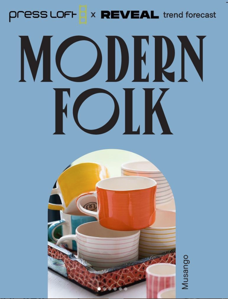 Above: Modern Folk is one of four key trends being highlighted at Top Drawer.