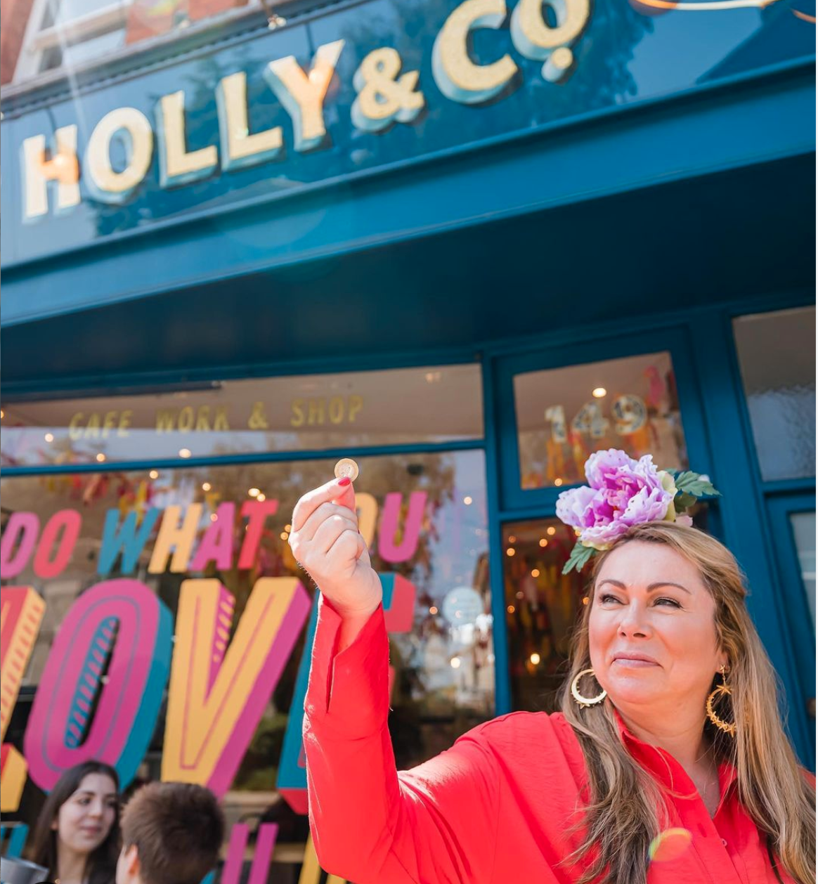 Above: Among Holly Tucker's many campaigns is one to encourage people to support their local retailers.