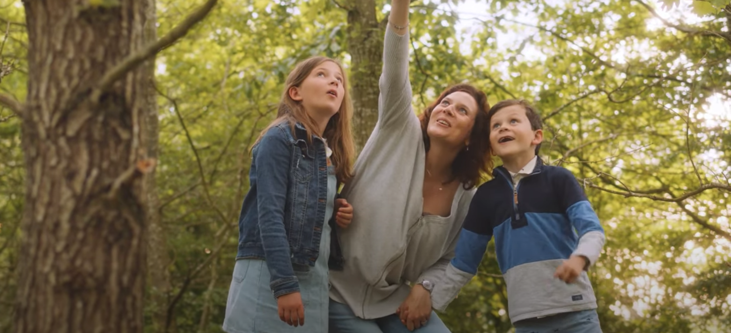 Above: Hannah Dale, creative director of Wrendale and two of her children in the video to promote the new plush.