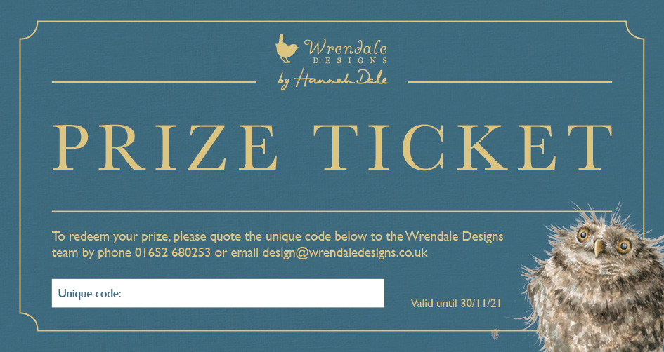 Above: The prize ticket participating stockists are receiving.