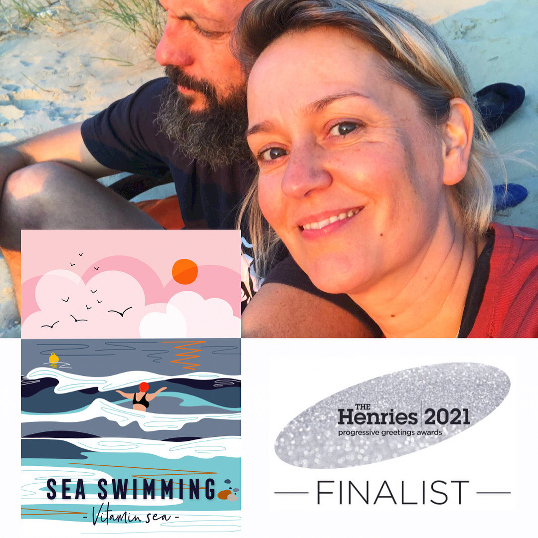 Above: Onneke with some of her Vitamin Sea designs.