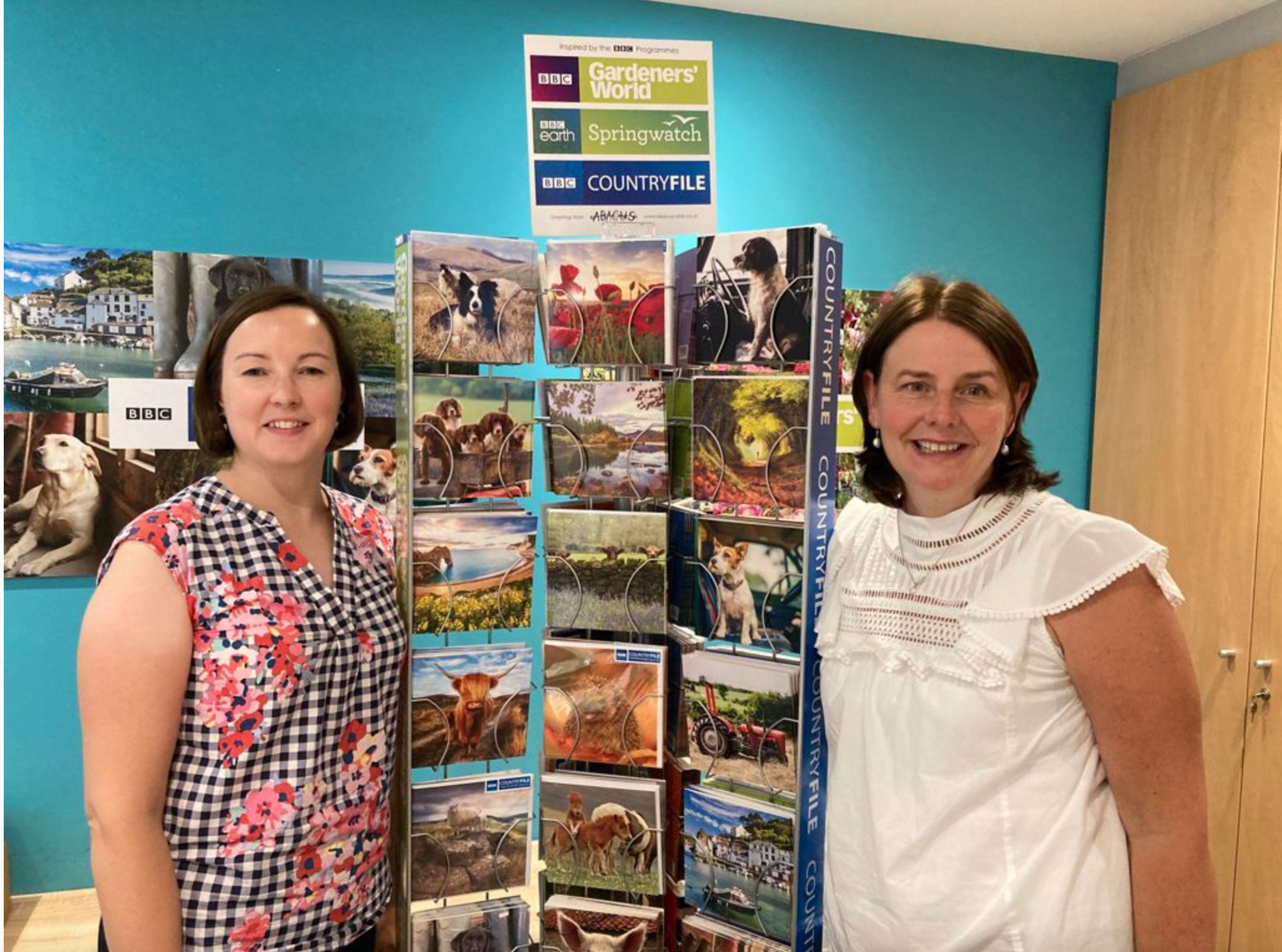 Above: Liz (left) and the Abacus team are super proud that its BBC Countryfile range was a hit with the judges.