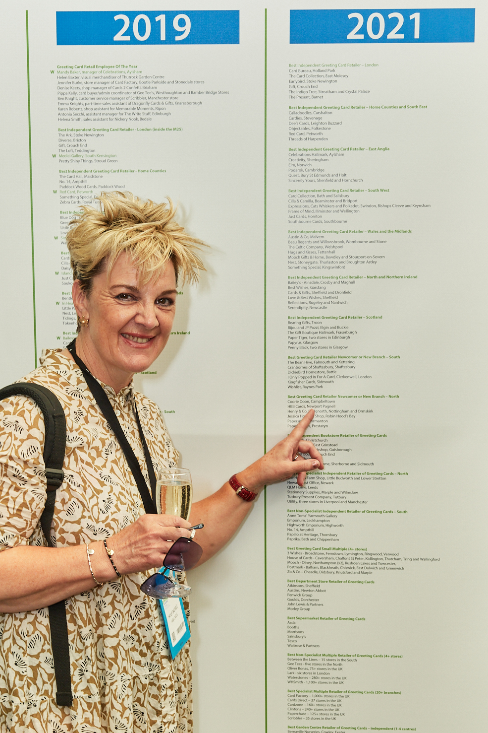 Above: Hayley was delighted to see HBB's name on the Retas Wall of Fame at the recent PG Live.