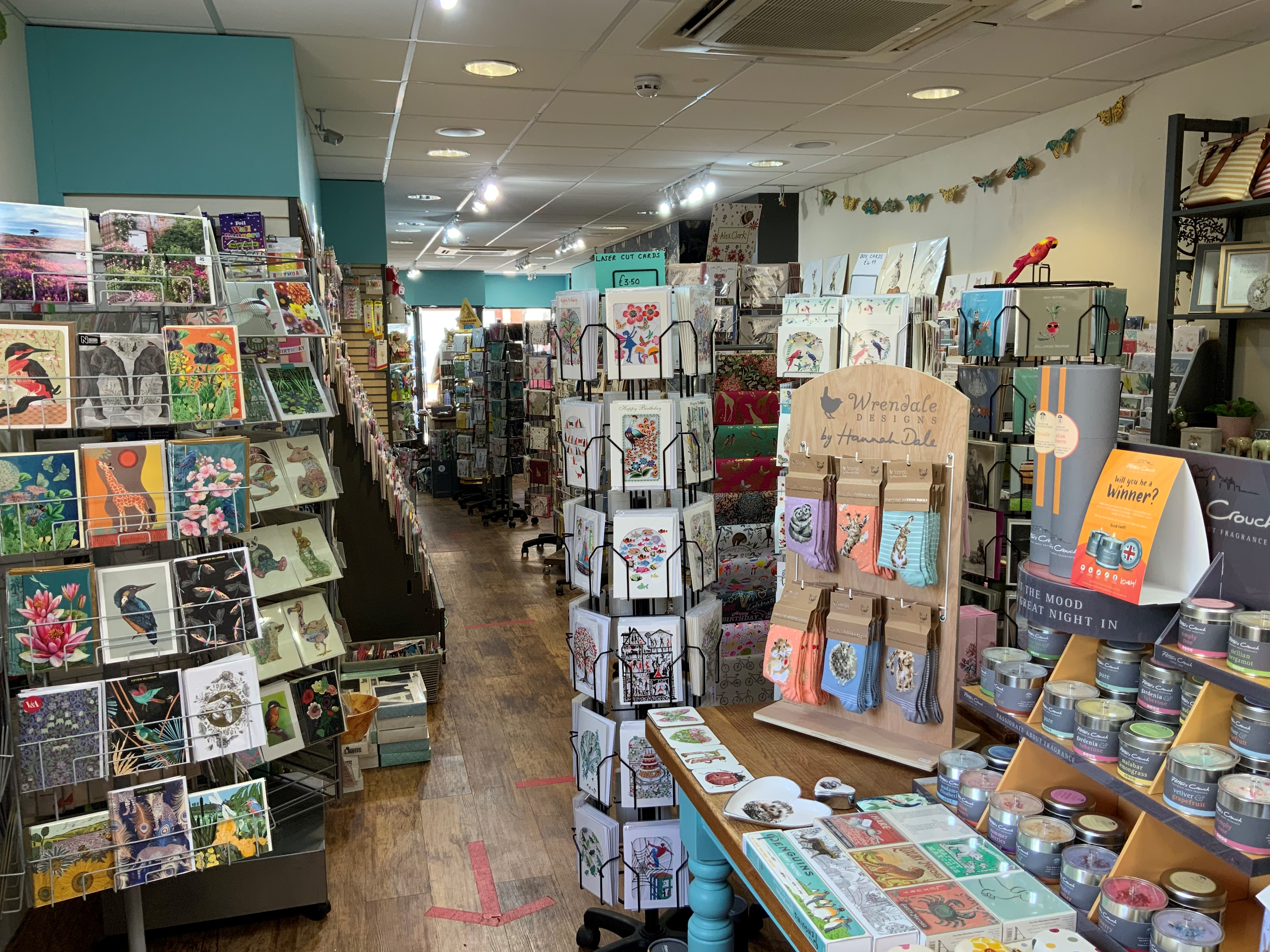 Above: Inside Kingfisher Cards & Gifts.