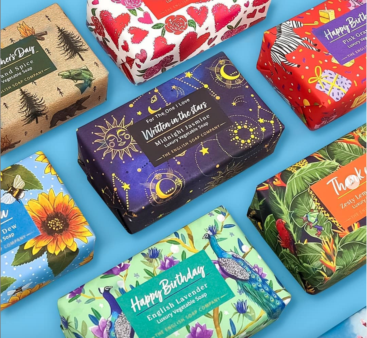 Above: The new occasions soap range from English Soap Company.