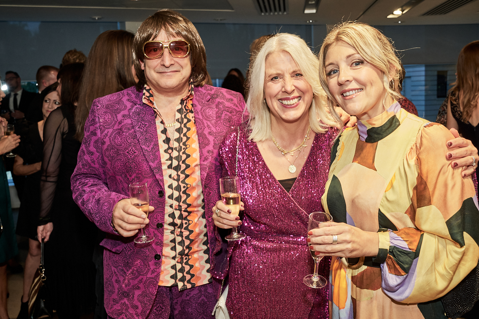 Above: Rush Design's Ian and (centre) Lorraine Bradley with Laura Darrington at the Windles drinks reception.