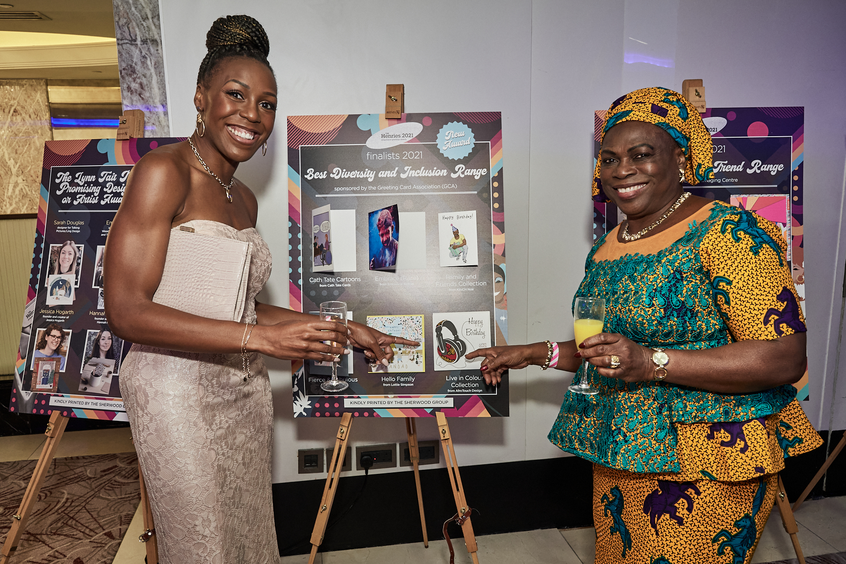 Above: AfroTouch's Georgina Fihosy with her mum Rose Adims.
