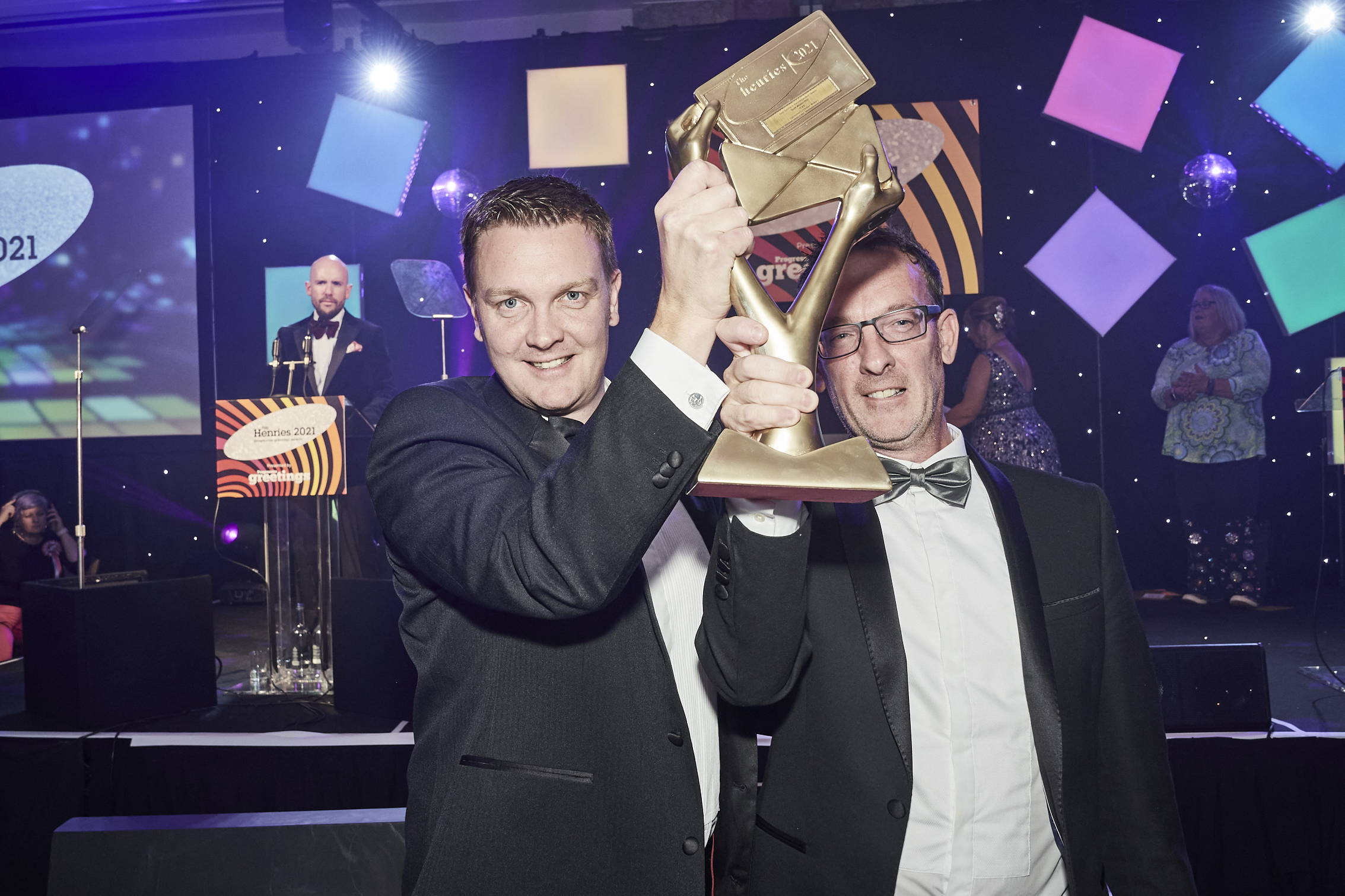 Above: Simon and Ian Wagstaff, directors of IC&G with the Gold award for service.