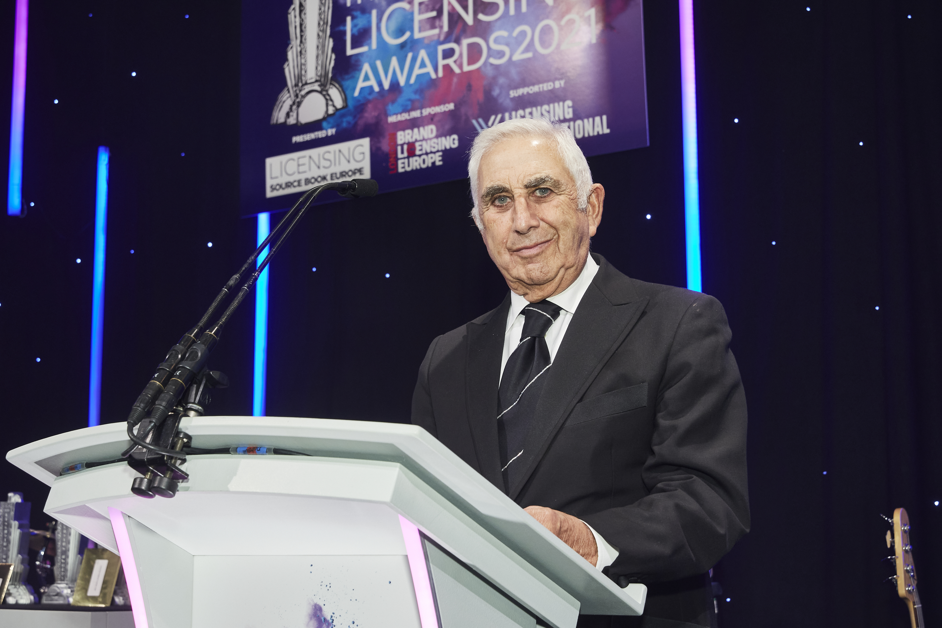 Above: Danilo's founder and chairman Laurence Prince presenting an award at the recent Licensing Awards.
