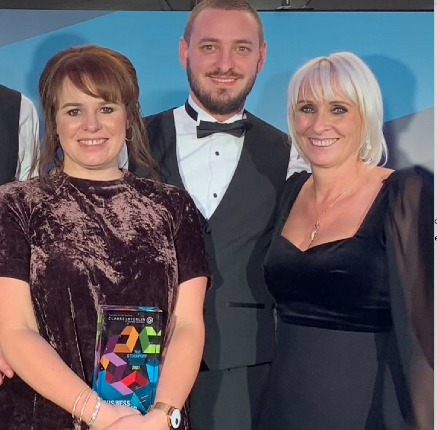 Above: Paper Salad's directors Karen Wilson (right) and Claire Williams with the company's general manager Jack Wilson at the awards event.