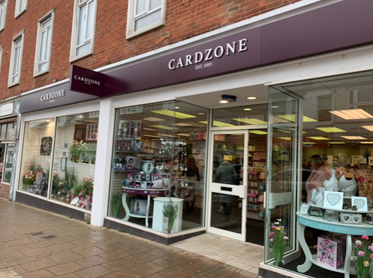 Above: The Cardzone group now comprises almost 180 shops.